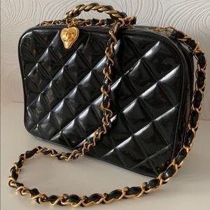 Chanel Vintage Patent Carryall Bag